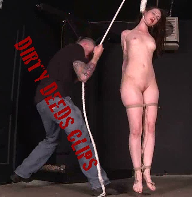 Neck the bdsm by hanging Rope hanging