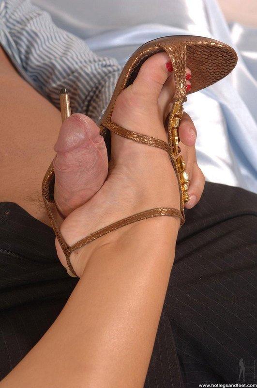 With heels footjob high High Heels