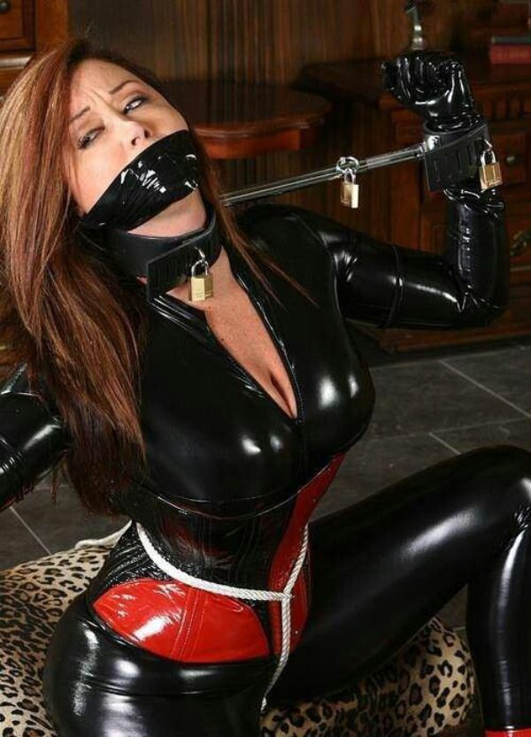 Sexy bondaged women in latex