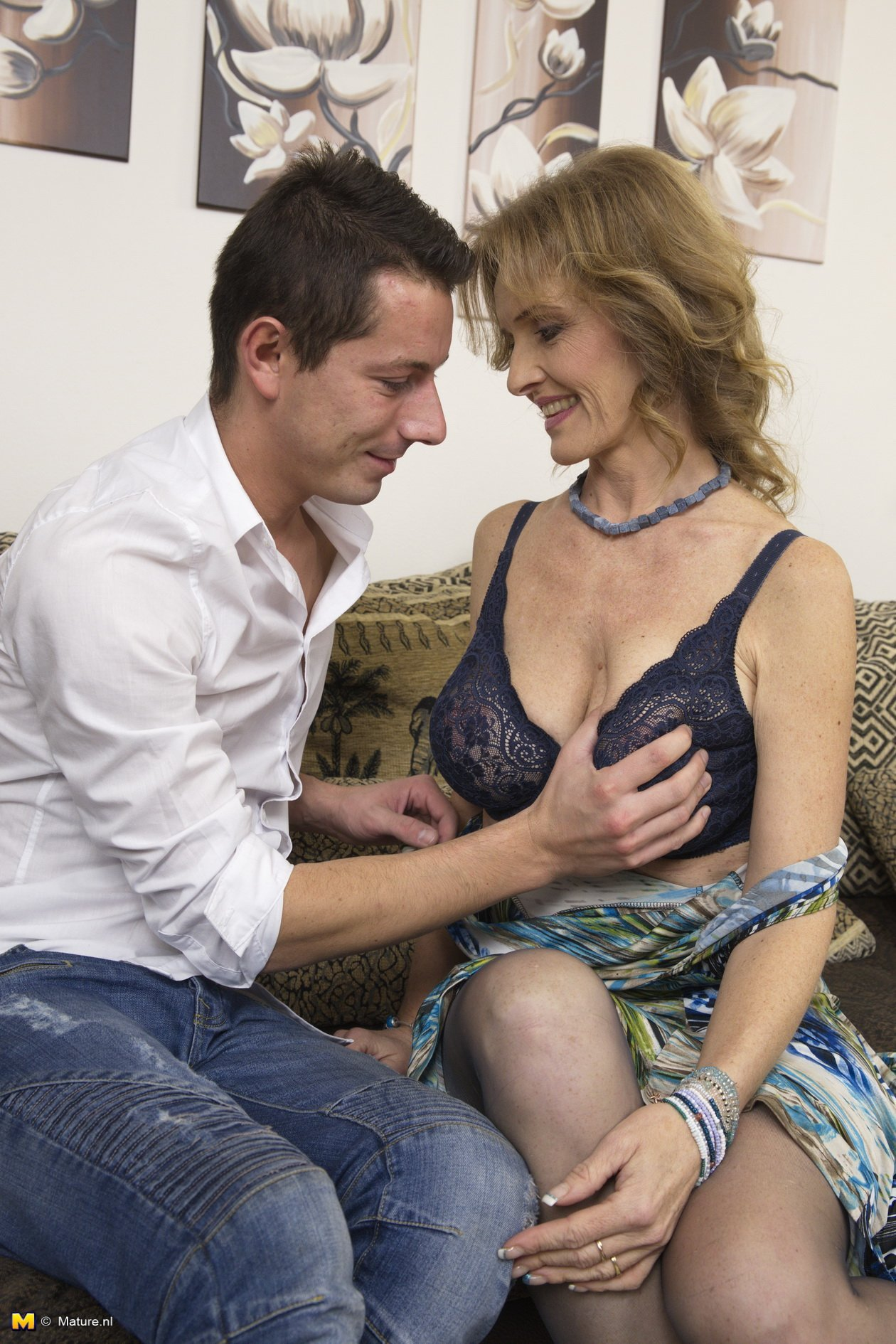 Hot naked milf with son