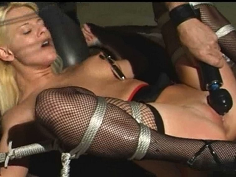 Hot blonde having orgasm