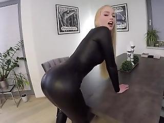 Blondine Catsuit Deutsche Latex Latex Fetish